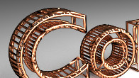 Blender Copper Wire Text