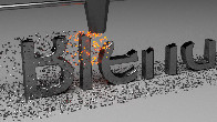 Blender Fanciful Text Machine Animation